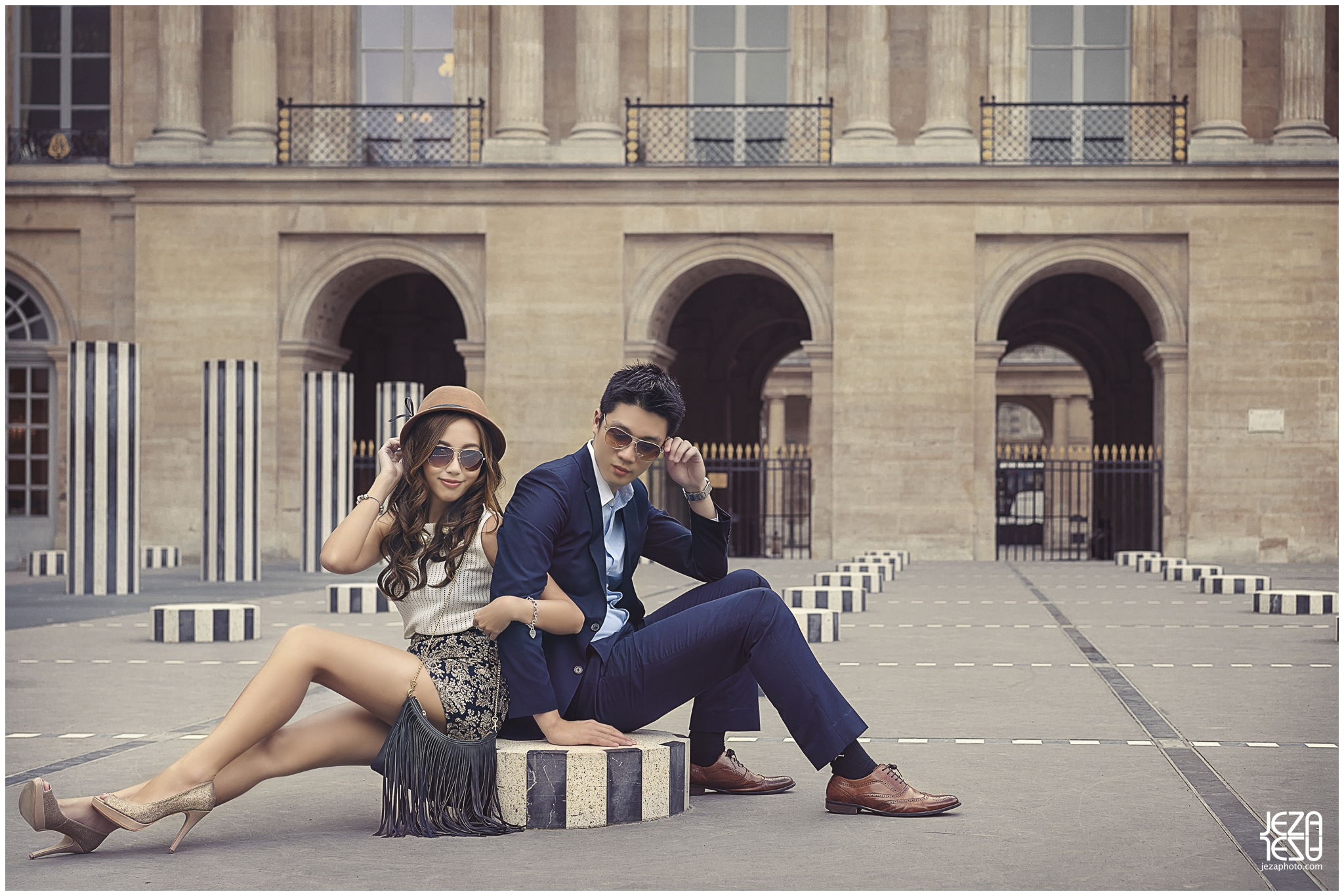 Alice + Kelvin Paris fashion Pre-Wedding Photo session