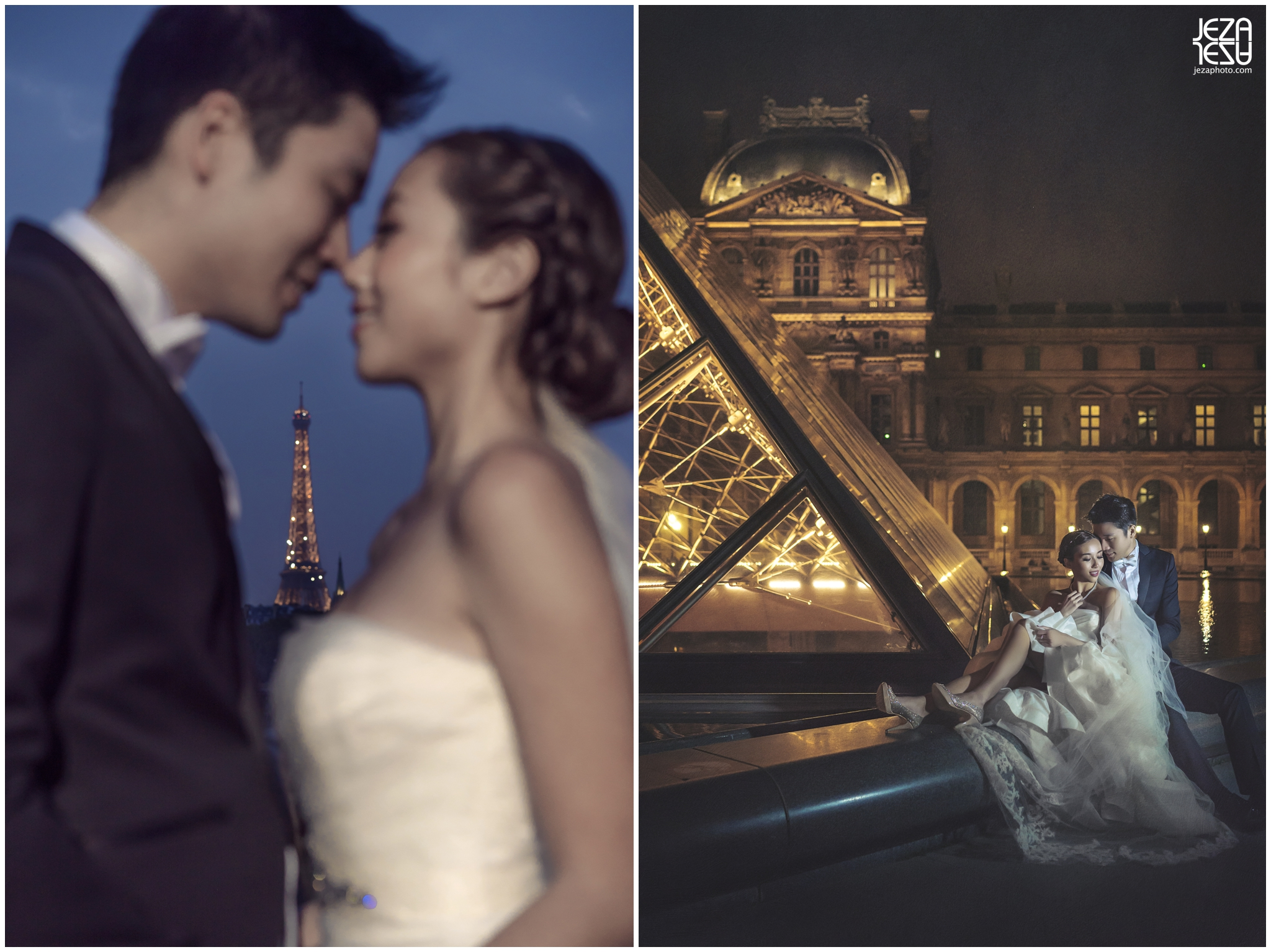 jeza Paris Pont Alexandre III louvre pre-wedding photo