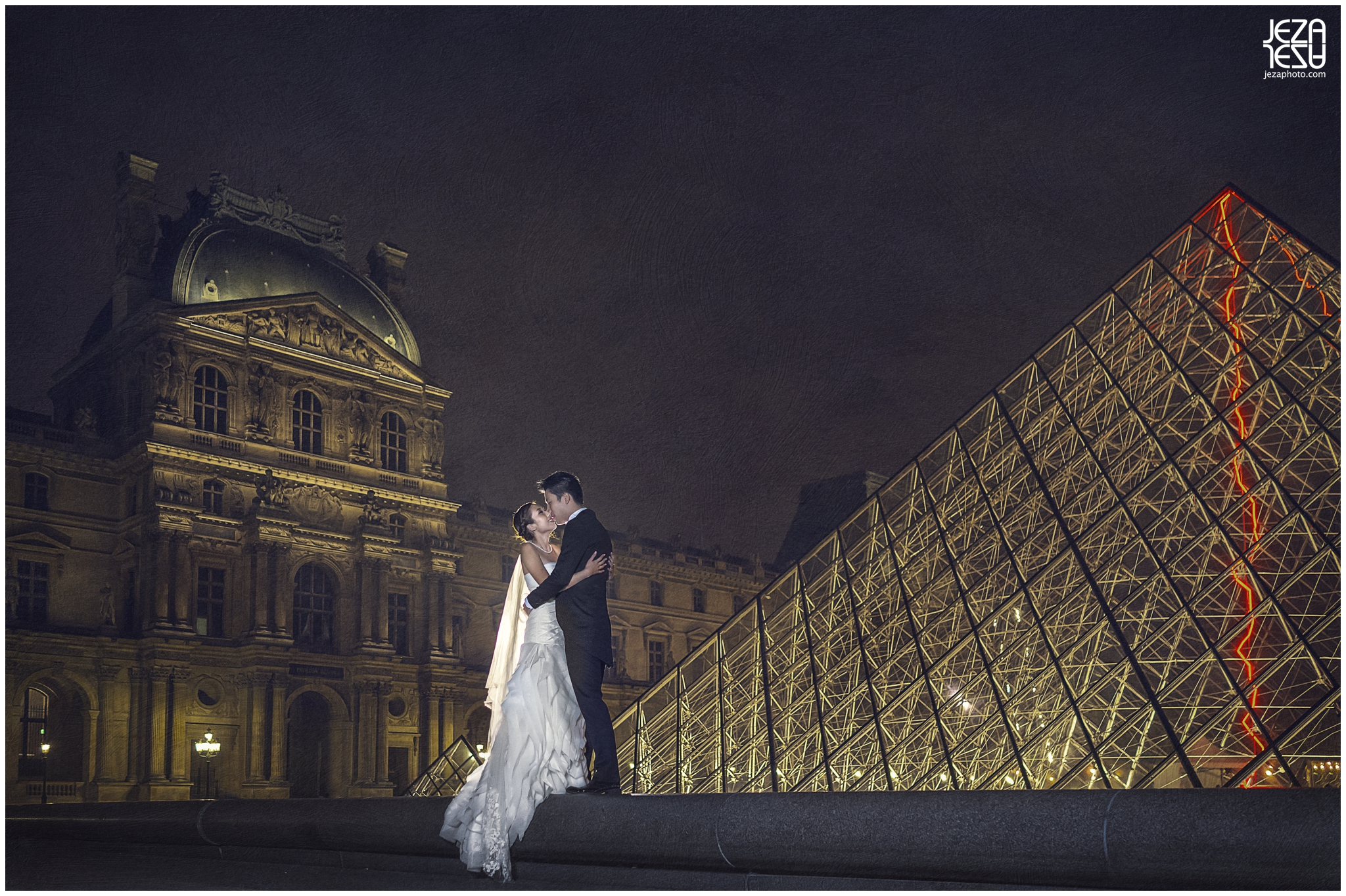 jeza Paris louvre pre-wedding photo